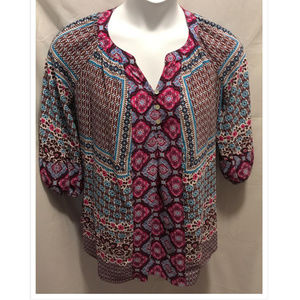 Size 0X New Directions Woman Top Boho